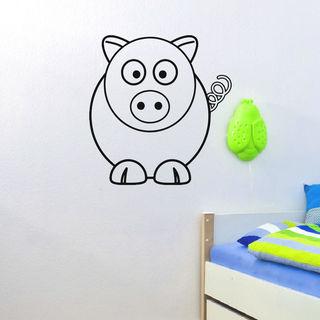Funny Pig Vinyl Wall Art Decal Sticker
