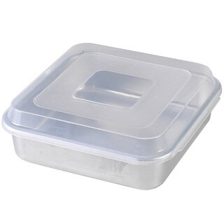 "Nordic Ware Square Cake Pan 9""x9"" with Lid"