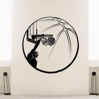 Basketball Dunk Ball Vinyl Wall Art Decal Sticker