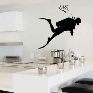Scuba Diver Vinyl Wall Art Decal Sticker