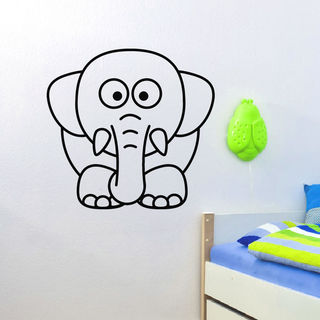 Kids Elephant Vinyl Wall Art Decal Sticker