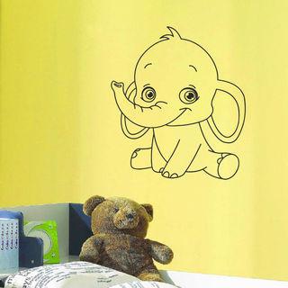 Baby Elephant Vinyl Art Decal Sticker