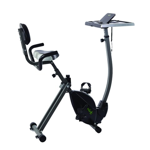 Wirk Ride Cycling Workstation Desk - Silver