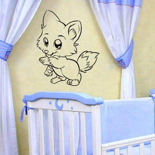 Fox Kids Nursery Vinyl Wall Art Decal Sticker