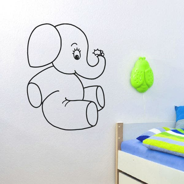 Baby Elephant Vinyl Wall Art Decal Sticker Overstock 10578157