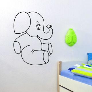 Baby Elephant Vinyl Wall Art Decal Sticker