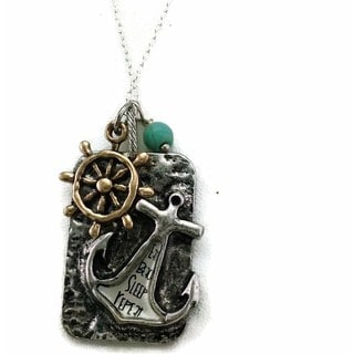 Mama Designs Handmade Charm-style Anchor Necklace