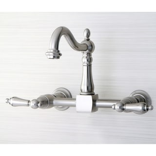 Victorian Wallmount Satin NIckel Kitchen Faucet