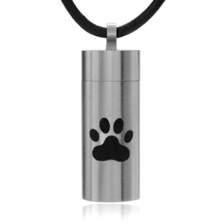 Territory Men's Stainless Steel Dog Paw Chamber Pendant