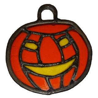 Stained Glass Halloween Jack-O-Lantern Stained Glass Suncatcher