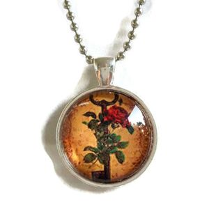 Atkinson Creations Key to her Heart pendant Glass Dome Necklace