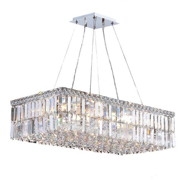 Light Rectangular Chandelier