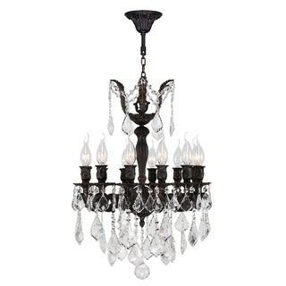 "French Imperial Collection 12 Light Flemish Brass Finish and Clear Crystal Chandelier 17"" x 24"""