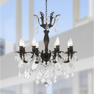 French Imperial Collection 8 Light Flemish Brass Finish and Clear Crystal Chandelier 23 x 25
