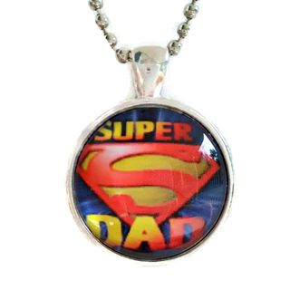Atkinson Creations Super Dad Glass Dome Necklace