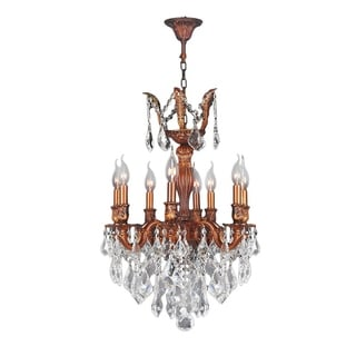 "French Imperial Collection 8 Light French Gold Finish and Clear Crystal Chandelier 19"" x 25"""