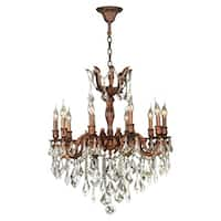 """French Imperial Collection 10 light French Gold Finish and Clear Crystal Chandelier 26"""" x 29"""""""