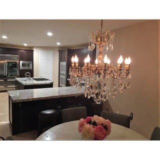 """French Imperial Collection 12 light Antique Bronze Finish and Clear Crystal Chandelier 27"""" x 30"""""""