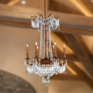 "Regal Estate Collection 18 Light Antique Bronze Finish Crystal Chandelier 36"" x 49"""