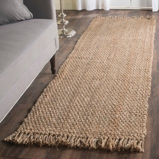 Safavieh Casual Natural Fiber Hand-Woven Natural Jute Rug (2'6 x 10')