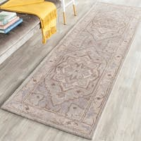 Safavieh Handmade Heritage Timeless Traditional Beige/ Grey Wool Rug - 2'3 x 12'