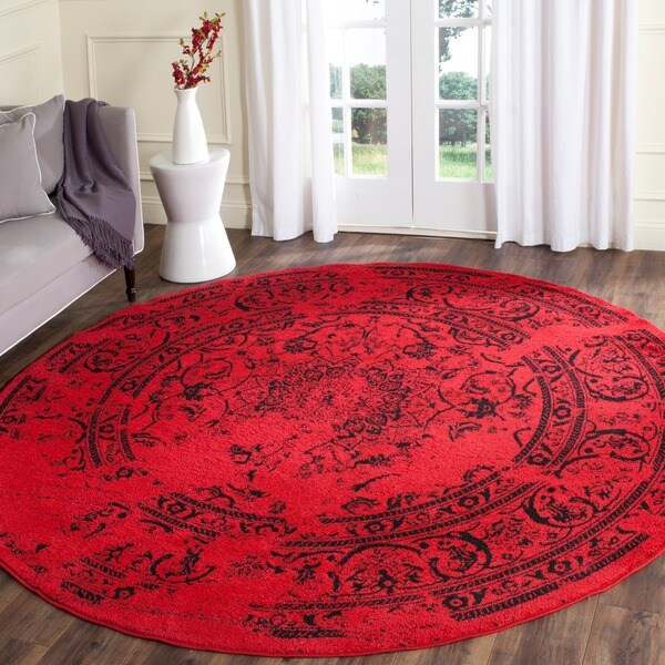Shop Safavieh Adirondack Vintage Overdyed Red Black Rug