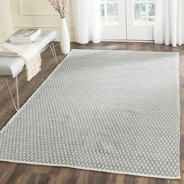 Safavieh Handmade Boston Flatweave Grey Cotton Rug - 4' Square