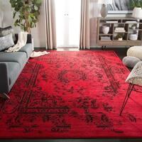 Safavieh Adirondack Vintage Overdyed Red/ Black Rug (4' Square)