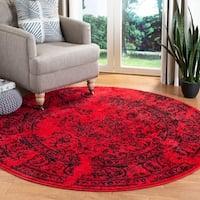 Safavieh Adirondack Vintage Overdyed Red/ Black Rug - 6' Round