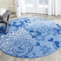 Safavieh Adirondack Roxy Vintage Damask Light Blue/ Dark Blue Rug - 6' x 6' Round