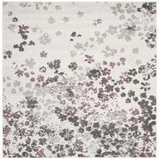 Safavieh Adirondack Vintage Floral Ivory / Purple Rug (6' Square)