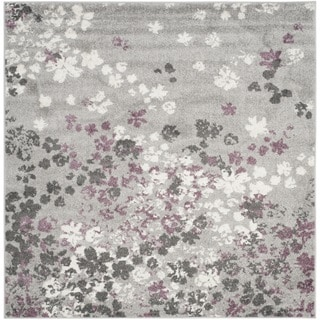 Safavieh Adirondack Light Grey/ Purple Rug (6' Square)