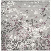Safavieh Adirondack Vintage Floral Light Grey / Purple Rug - 6' Square