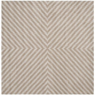 Safavieh Handmade Cambridge Grey/ Taupe Wool Rug (6' Square)