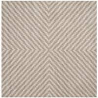 Safavieh Handmade Cambridge Grey/ Taupe Wool Rug - 6' Square