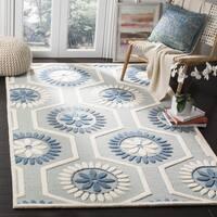 Safavieh Handmade Moroccan Cambridge Blue/ Ivory Wool Rug - 6' Square