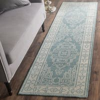 Safavieh Hand-Knotted Kenya Ivory/ Blue Wool Rug - 2'3 x 8'