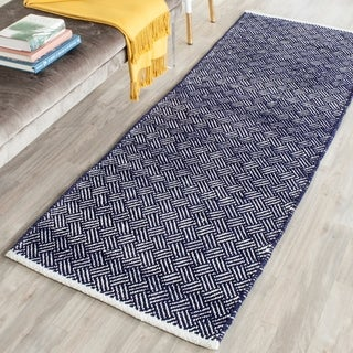 Safavieh Hand-Tufted Boston Navy Cotton Rug (2'3 x 9')