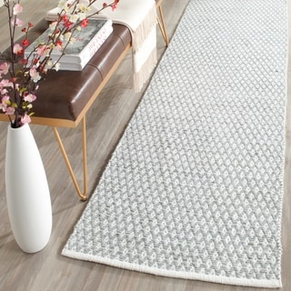 Safavieh Hand-Tufted Boston Grey Cotton Rug (2'3 x 9')