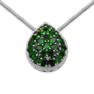 Olivia Leone Sterling Silver 4 5/8ct Chrome Diopside Pendant