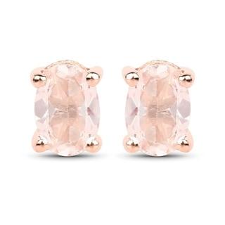 Malaika 18k Rose Goldplated Sterling Silver 7/8ct Morganite Earrings