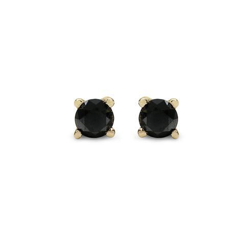 Malaika Sterling Silver 5/8ct TDW Black Diamond Earrings