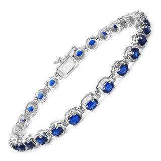 Olivia Leone Sterling Silver 6ct Kyanite Bracelet