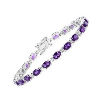 Olivia Leone Sterling Silver 9ct Amethyst Bracelet
