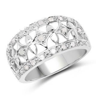 Malaika Sterling Silver 1/3ct TDW Diamond Ring