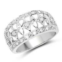 Malaika Sterling Silver 1/3ct TDW Diamond Ring