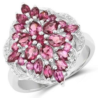 Olivia Leone Sterling Silver 2 4/5ct Rhodolite Ring