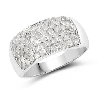 Malaika Sterling Silver 1 1/5ct TDW Diamond Ring