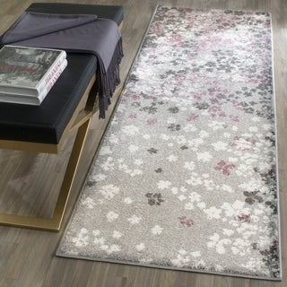Safavieh Adirondack Vintage Floral Light Grey/ Purple Rug (2' 6 x 8')
