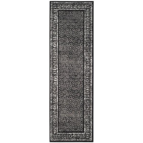 Safavieh Adirondack Vintage Black/ Silver Rug - 2'6 x 8'